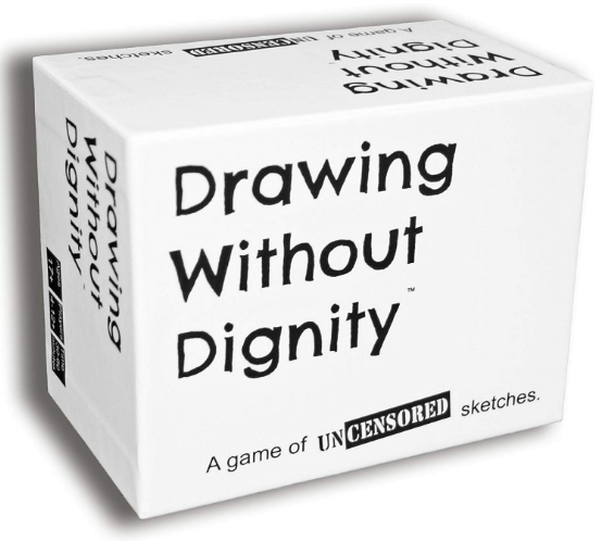 drawing without dignity game on white background