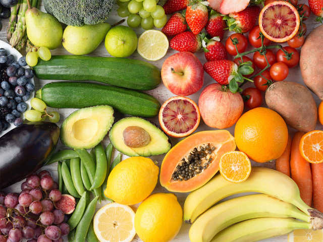 mixture of fruits and vegetables