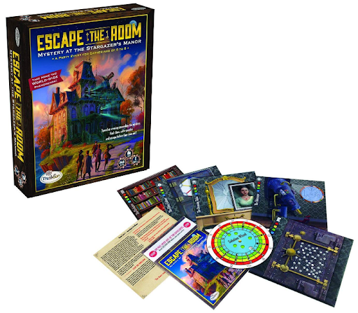 thinkfun escape room game on white background