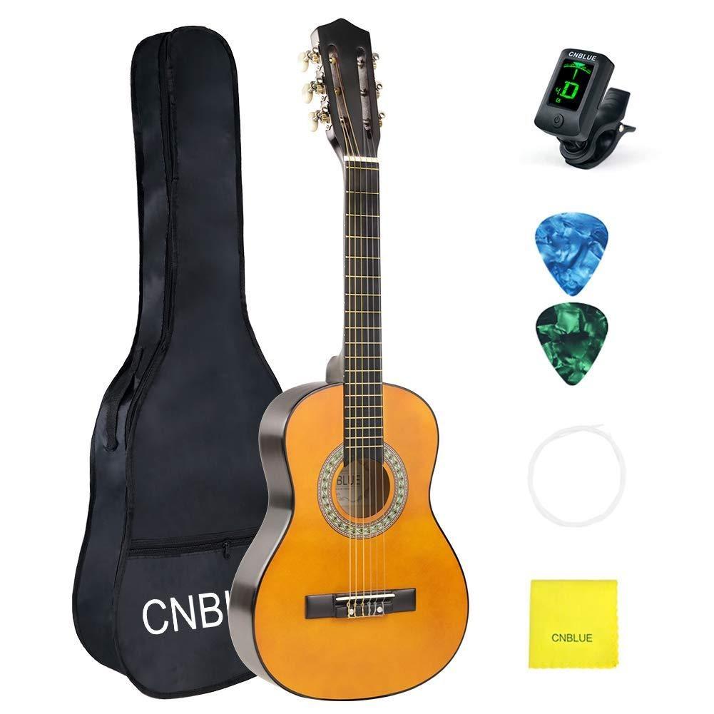 Beginner Classical Guitar Set on white background