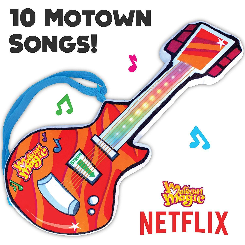 Motown Magic Guitar on white background with netflix logo